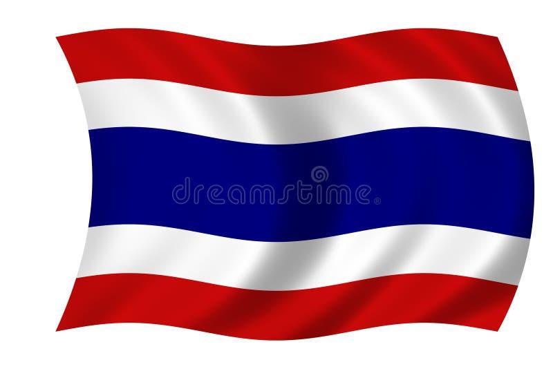 Vlag van Thailand royalty-vrije illustratie