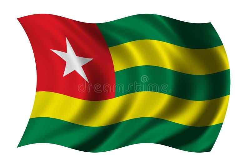 Vlag van Togo vector illustratie