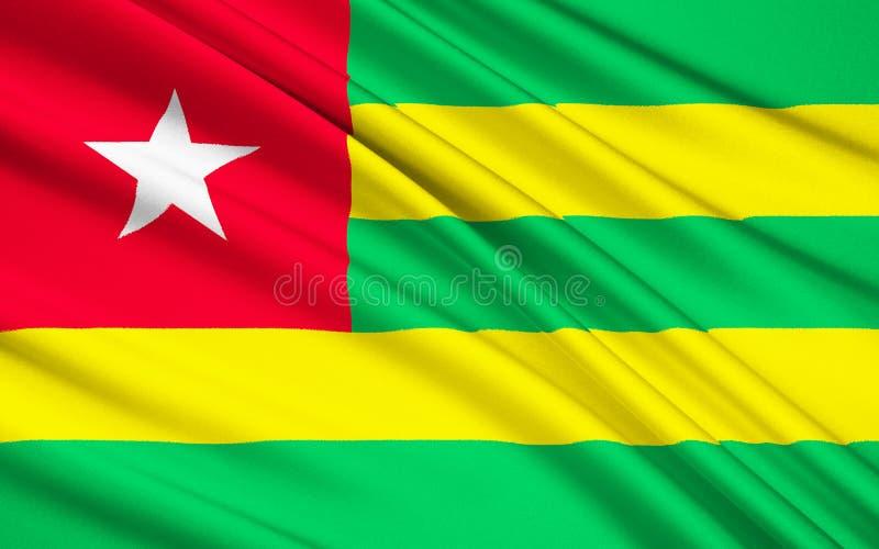 Vlag van Togo, Lomé vector illustratie