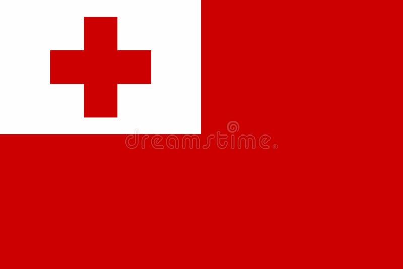 Vlag van Tonga vector illustratie