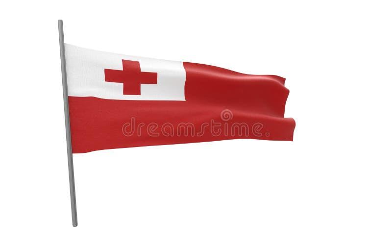 Vlag van Tonga stock illustratie