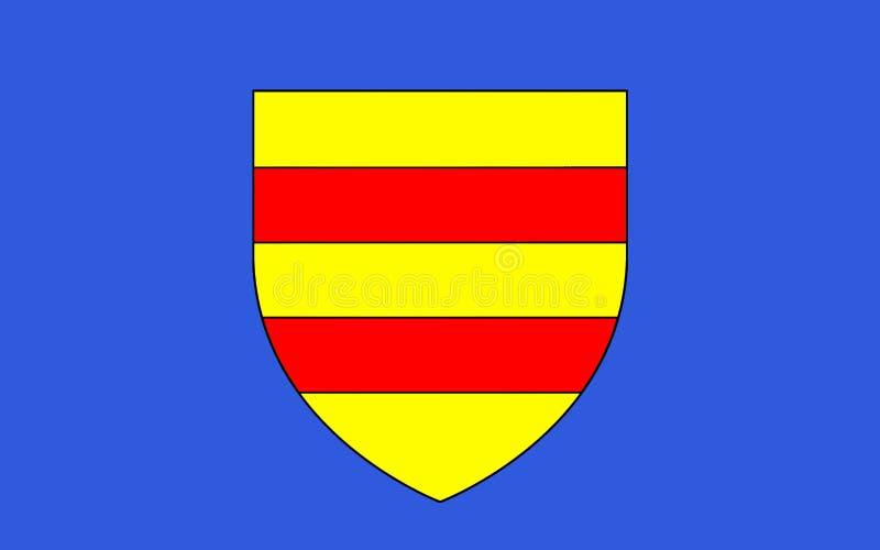 Vlag van Torcy, Frankrijk stock afbeelding