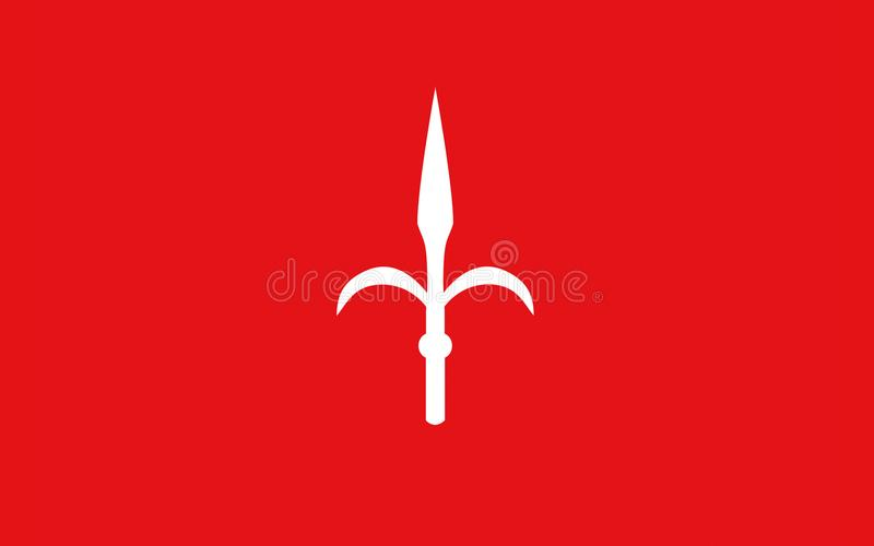 Vlag van Triëst van Friuli-Venezia Giulia, Italië royalty-vrije illustratie