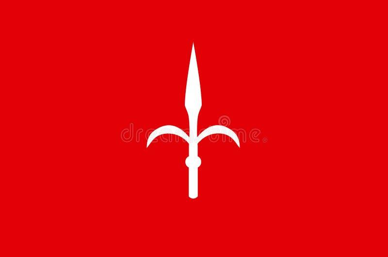 Vlag van Triëst - Italië royalty-vrije illustratie