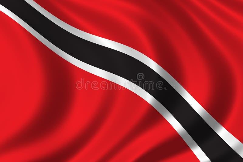 Vlag van Trinidad royalty-vrije illustratie