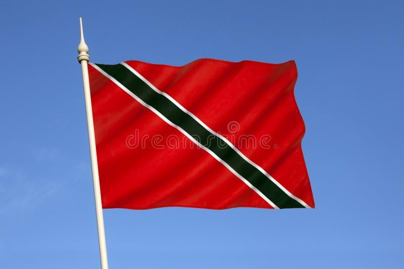 Vlag van Trinidad en Tobago de Caraïben royalty-vrije stock afbeelding