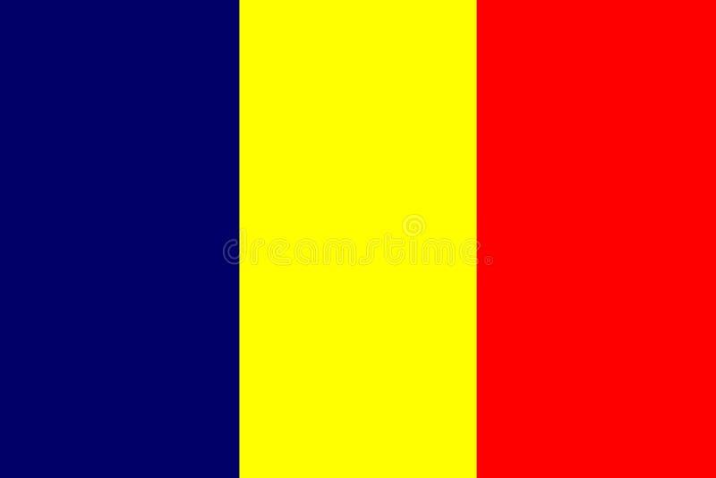 Vlag van Tsjaad stock illustratie