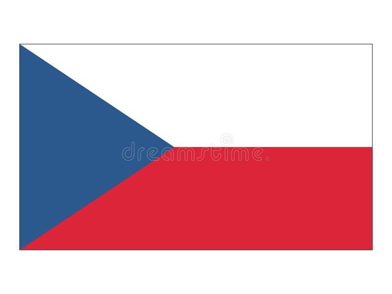 Vlag van Tsjechische Republiek vector illustratie