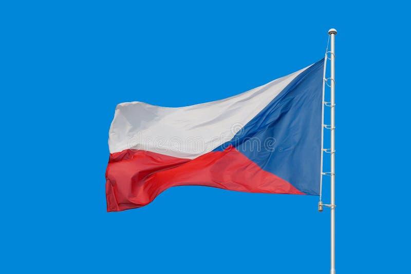 Vlag van Tsjechische Republiek royalty-vrije stock afbeeldingen
