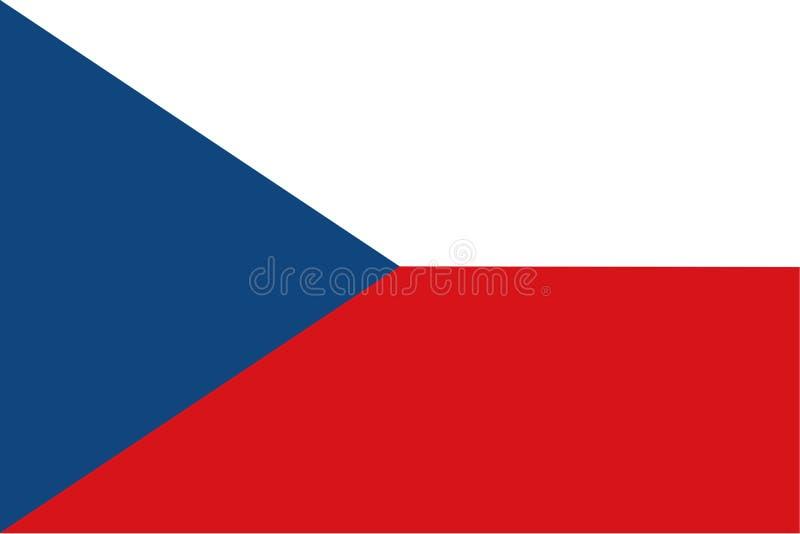 Vlag van Tsjechische Republiek en vroeger Tsjecho-Slowakije Originele afmetingen De eenvoudige vlakke vectorillustratie van EPS10 royalty-vrije illustratie