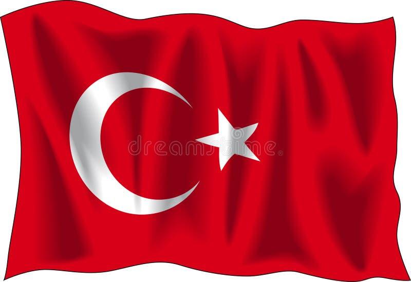 Vlag van Turkije vector illustratie