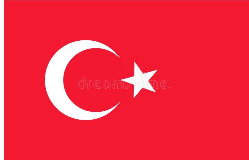 Vlag van Turkije stock illustratie
