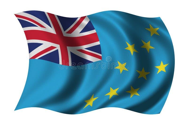 Vlag van Tuvalu stock illustratie