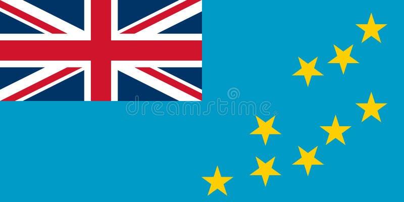 Vlag van Tuvalu vector illustratie