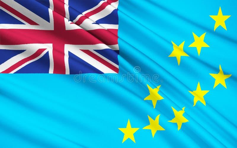 Vlag van Tuvalu, Funafuti - Polynesia royalty-vrije stock fotografie