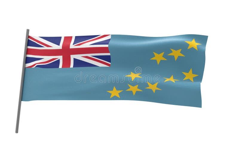 Vlag van Tuvalu royalty-vrije stock foto