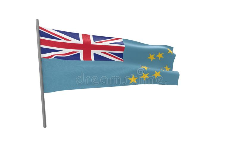 Vlag van Tuvalu royalty-vrije illustratie