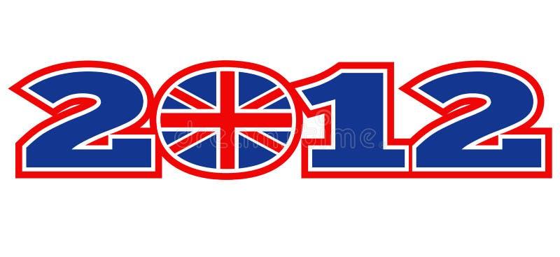 Vlag van Union Jack van Londen 2012 de Britse vector illustratie