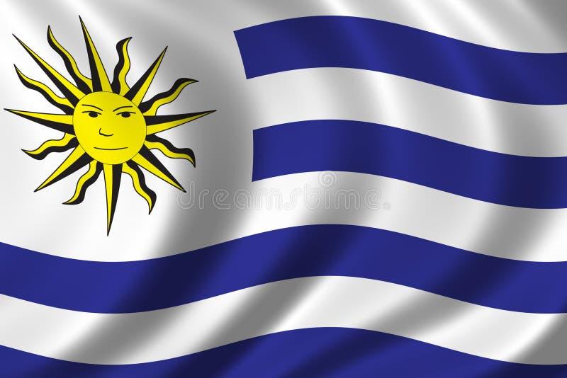 Vlag van Uruguay vector illustratie