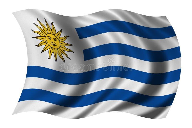 Vlag van Uruguay stock illustratie