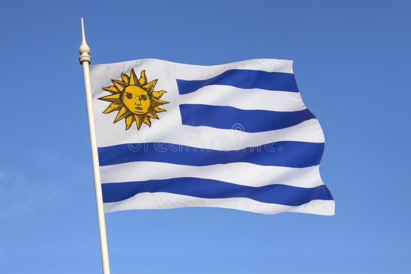 Vlag van Uruguay - Zuid-Amerika royalty-vrije stock foto's