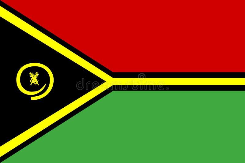 Vlag van Vanuatu vector illustratie