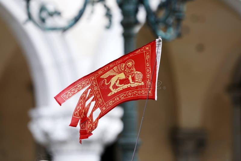 Vlag van Veneto, Italië royalty-vrije stock foto's