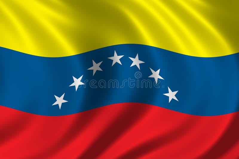 Vlag van Venezuela royalty-vrije illustratie