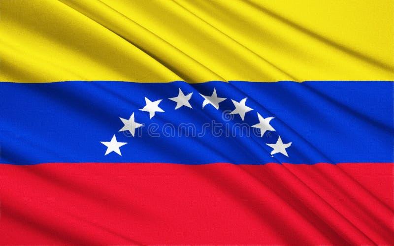Vlag van Venezuela, Caracas royalty-vrije illustratie