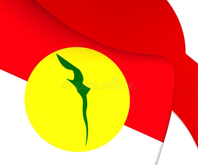 Vlag van Verenigde Maleizen Nationale Organisatie vector illustratie