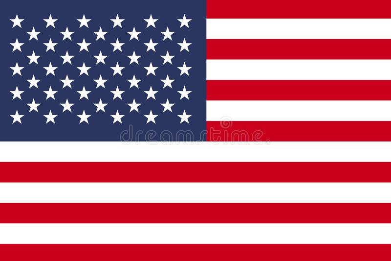 Vlag van Verenigde Staten, Amerikaanse vlag stock illustratie