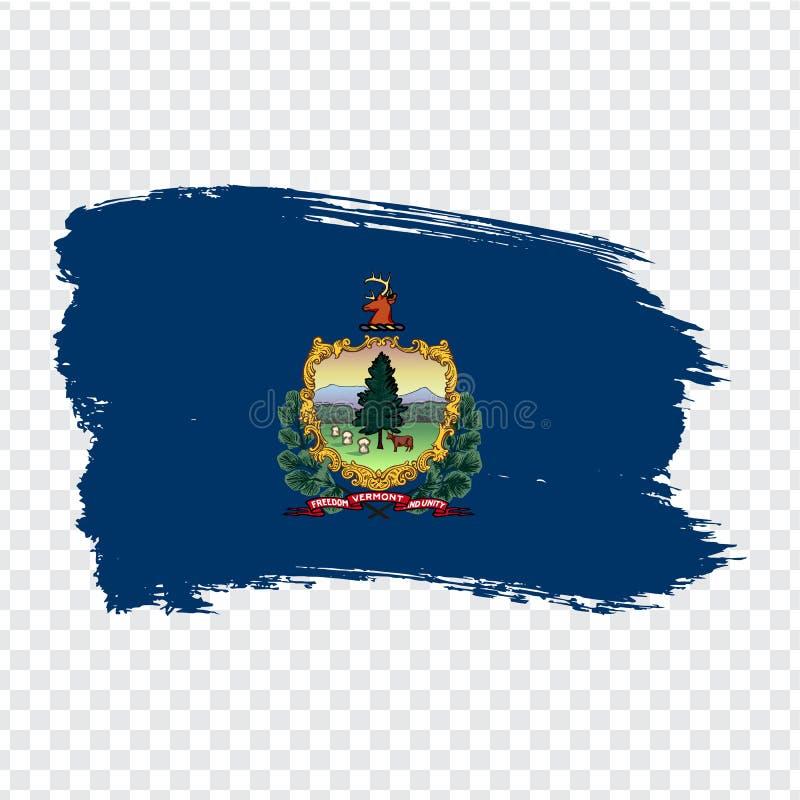 Vlag van Vermont van kwaststreken De Verenigde Staten van Amerika Vlag Vermont op transparante achtergrond voor uw websiteontwerp royalty-vrije illustratie