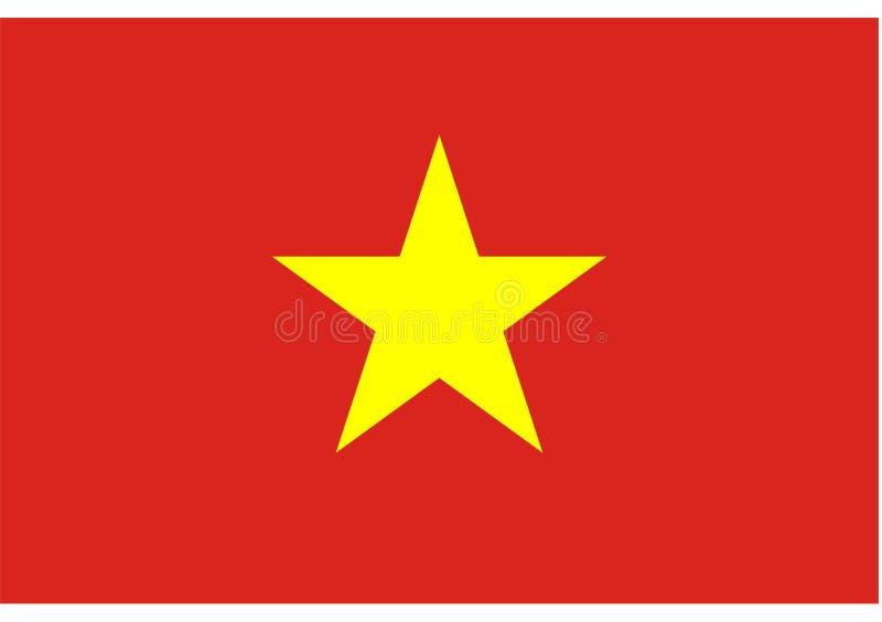 Vlag van Vietnam royalty-vrije illustratie
