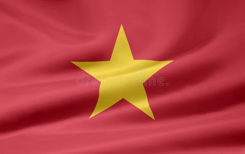 Vlag van Vietnam vector illustratie