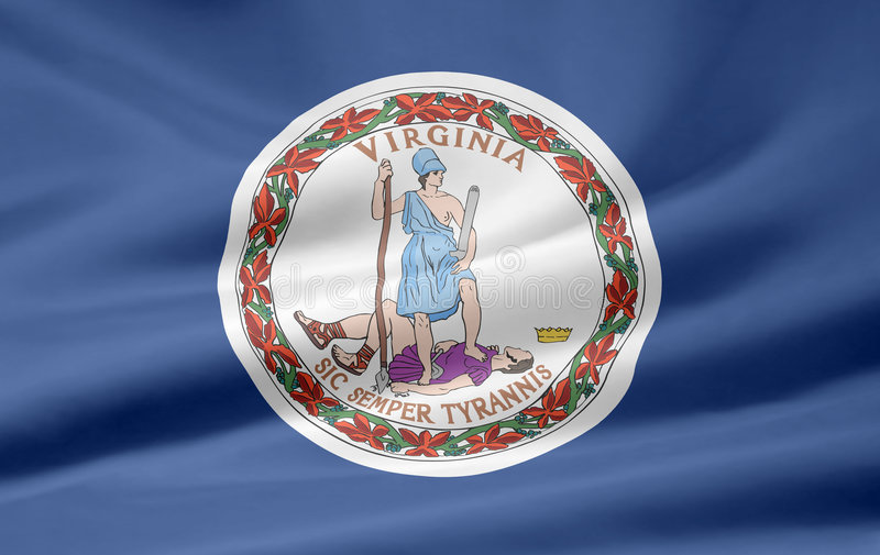Vlag van Virginia vector illustratie