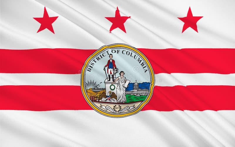Vlag van Washington, D C , de V vector illustratie