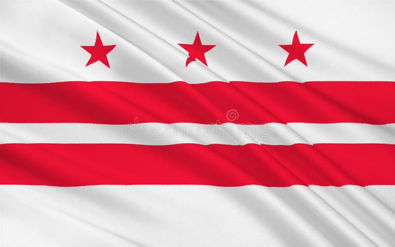 Vlag van Washington, D C , de V royalty-vrije illustratie