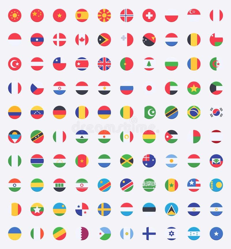 Vlag van wereld vector illustratie