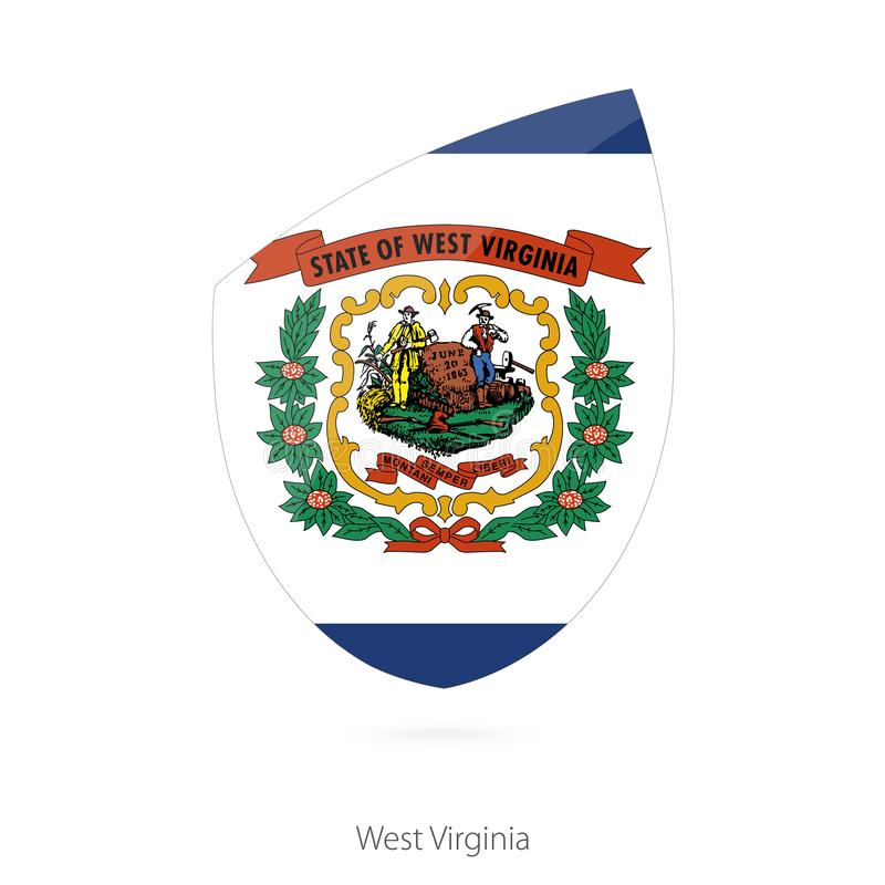 Vlag van West-Virginia stock illustratie