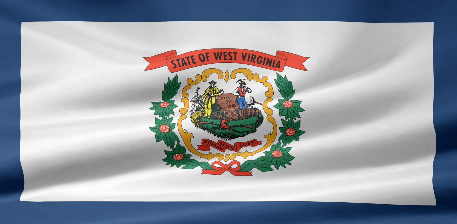 Vlag van West-Virginia vector illustratie