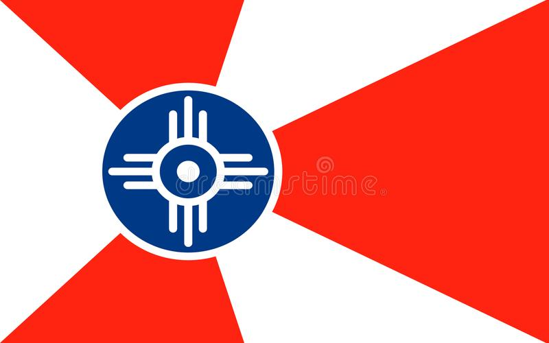 Vlag van Wichita in Kansas, de V.S. royalty-vrije stock foto