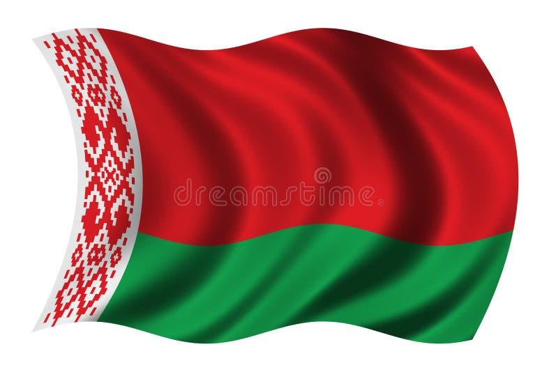 Vlag van Wit-Rusland vector illustratie