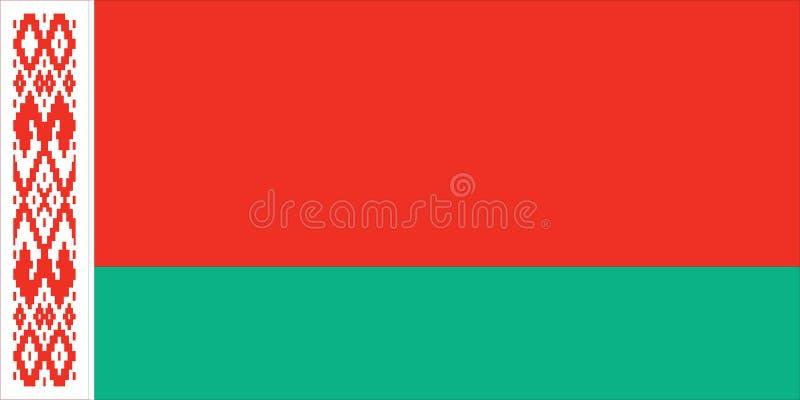 vlag van Wit-Rusland royalty-vrije illustratie