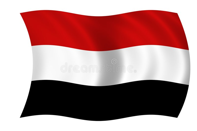 Vlag van Yemen royalty-vrije illustratie