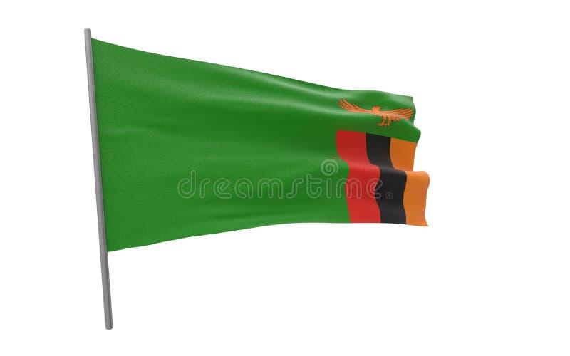Vlag van Zambia royalty-vrije illustratie
