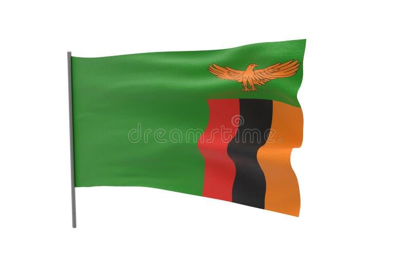 Vlag van Zambia vector illustratie