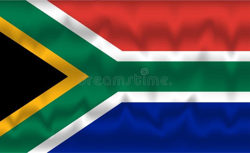 Vlag van Zuid-Afrika stock afbeeldingen