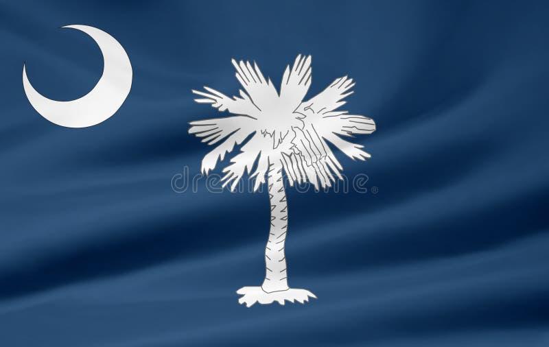 Vlag van Zuid-Carolina royalty-vrije illustratie