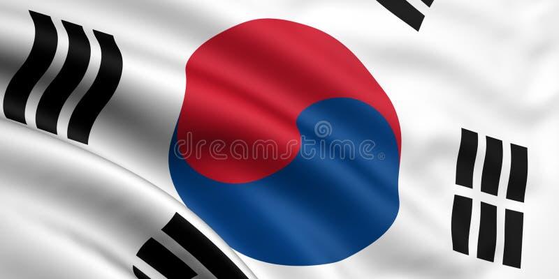 Vlag van Zuid-Korea vector illustratie