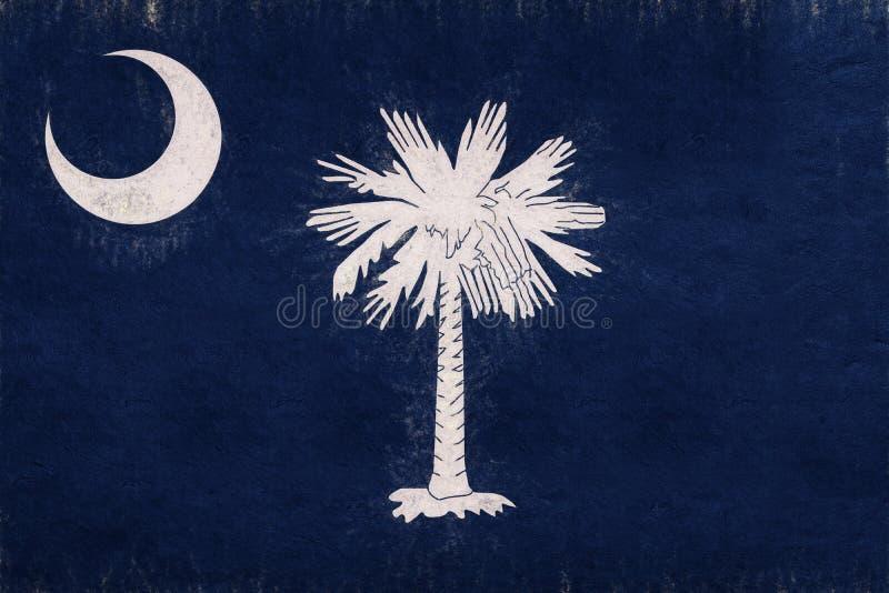 Vlag van Zuiden Carolina Grunge vector illustratie